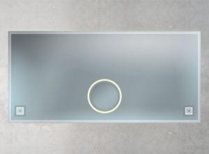 beleuchteter Spiegel mit Facette